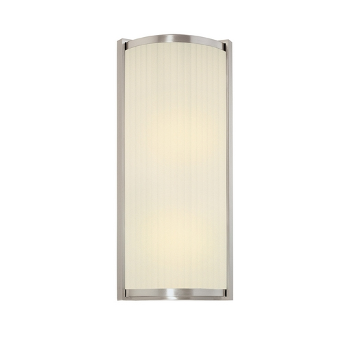 Sonneman Lighting Sconce Wall Light with White Glass in Satin Nickel Finish 4351.13
