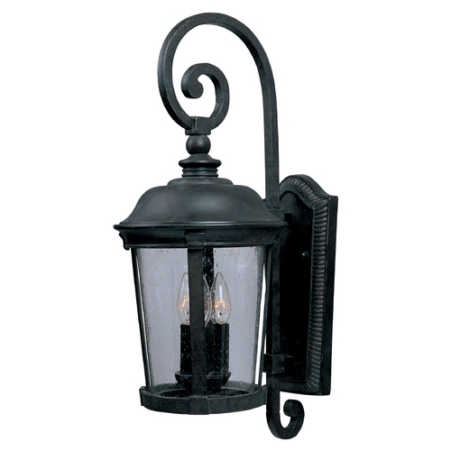 Maxim Lighting Outdoor Wall Light with Clear Glass in Bronze Finish 40095CDBZ