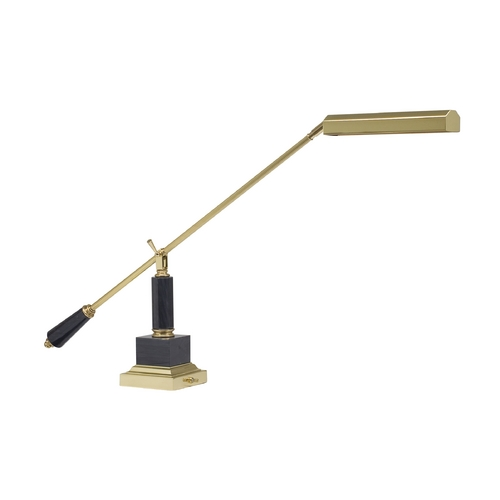 House of Troy Lighting Piano / Banker Lamp in Polished Brass Finish P10-190-M