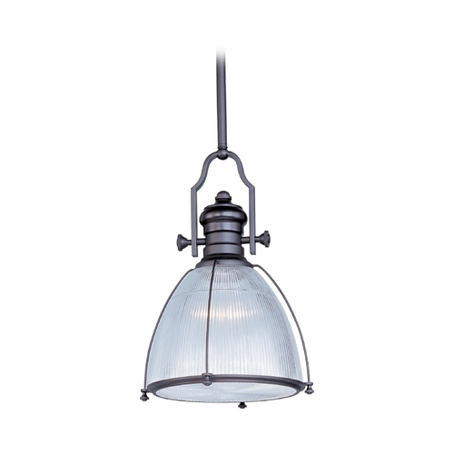 Maxim Lighting Nautical Pendant Light with Clear Halophane Glass 25003CLBZ