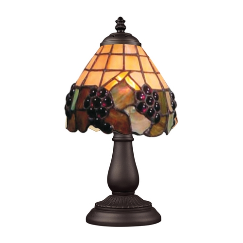 Elk Lighting Accent Lamp with Tiffany Glass in Bronze Finish 080-TB-07