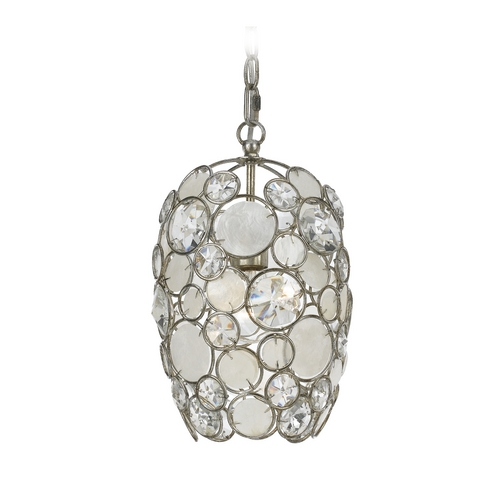 Crystorama Lighting Crystal Mini-Pendant Light 523-SA