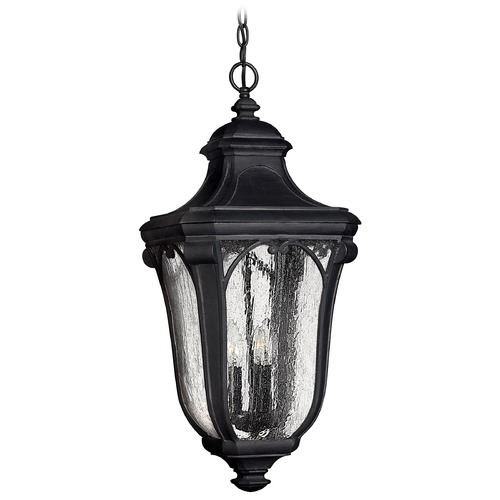 Hinkley Lighting Outdoor Hanging Light with Clear Glass in Museum Black Finish 1312MB