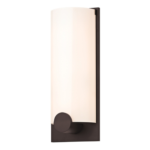 Sonneman Lighting Modern Sconce Wall Light with White Glass in New Bronze Finish 3663.26