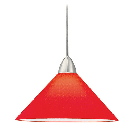 WAC Lighting Wac Lighting Contemporary Collection Chrome LED Mini-Pendant with Conical Shade MP-LED512-RD/CH