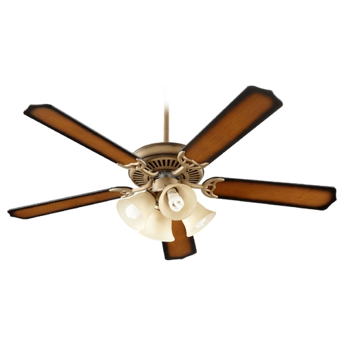 Quorum Lighting Quorum Lighting Capri V Antique Flemish Ceiling Fan with Light 77525-8322