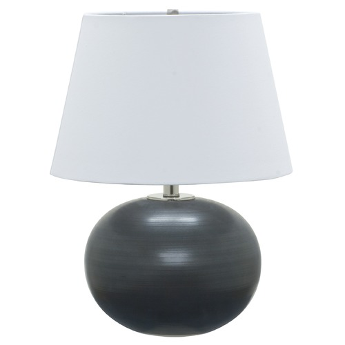 House of Troy Lighting House Of Troy Scatchard Black Matte Table Lamp with Empire Shade GS700-BM