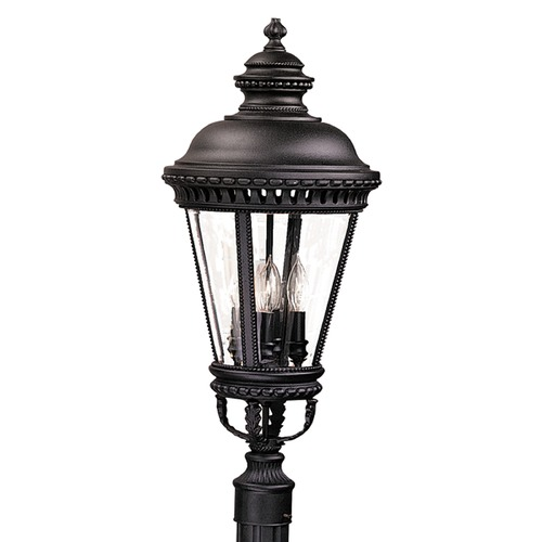 Feiss Lighting Post Lighting with Clear Glass in Black Finish OL1908BK