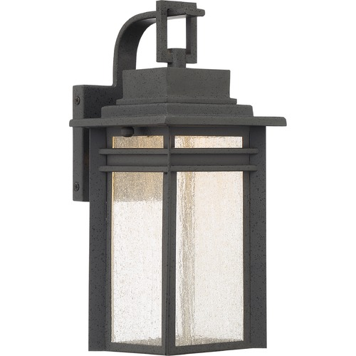 Quoizel Lighting Quoizel Lighting Beacon Stone Black LED Outdoor Wall Light BEC8406SBK