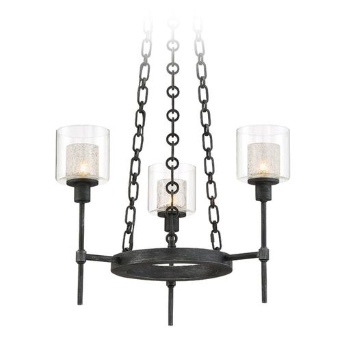 Designers Fountain Lighting Designers Fountain Cazadero Weathered Pewter Mini-Chandelier 89183-WP