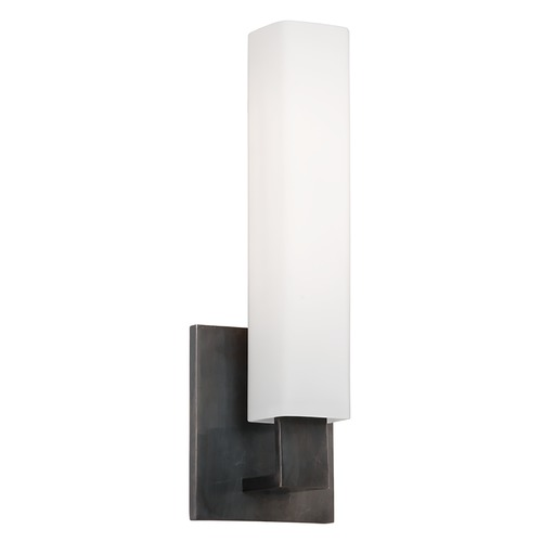 Hudson Valley Lighting Modern Bathroom Light with White Glass in Old Bronze Finish 550-OB