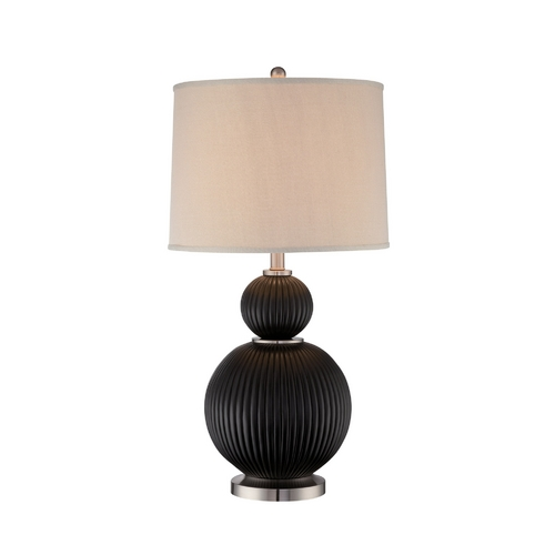 Lite Source Lighting Lite Source Lighting Latona Bronze Table Lamp with Drum Shade LS-21898