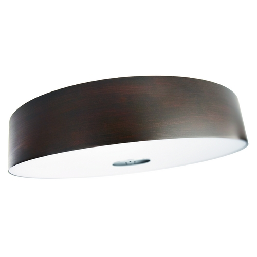 Philips Lighting Modern Flushmount Light with Brown in Matte Chrome Finish 403401148
