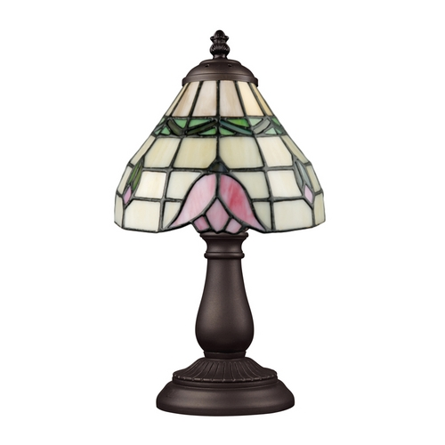 Elk Lighting Accent Lamp with Tiffany Glass in Bronze Finish 080-TB-09