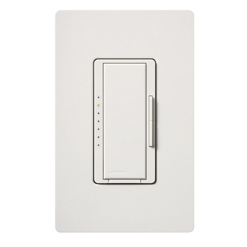 Lutron Dimmer Controls Dimmer Switch in White Finish MRF2-600M-WH