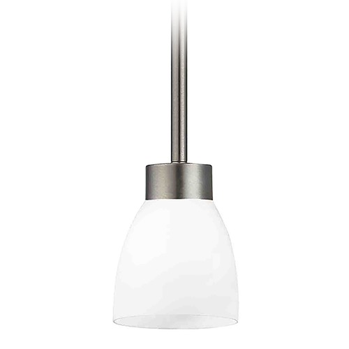 Design Classics Lighting Modern Mini-Pendant Light with White Glass 1123-1-09 GL1028MB