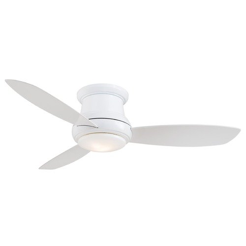 44 Inch Minka Lavery White Led Ceiling Fan With Light