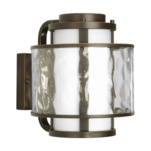 Progress Lighting Progress Modern Outdoor Wall Light with Clear Glass in Bronze Finish P5849-20
