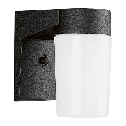 Progress Lighting Progress Outdoor Wall Light with White Glass in Black Finish P5511-31