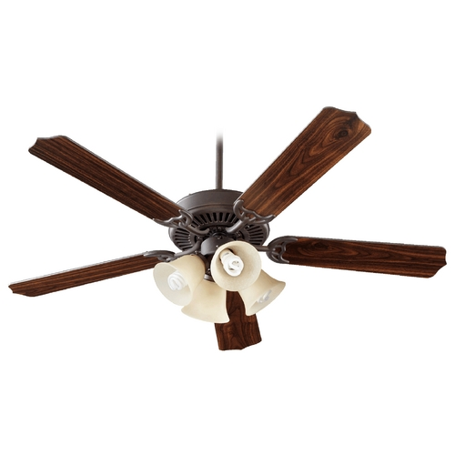 Quorum Lighting Quorum Lighting Capri V Toasted Sienna Ceiling Fan with Light 77525-8344