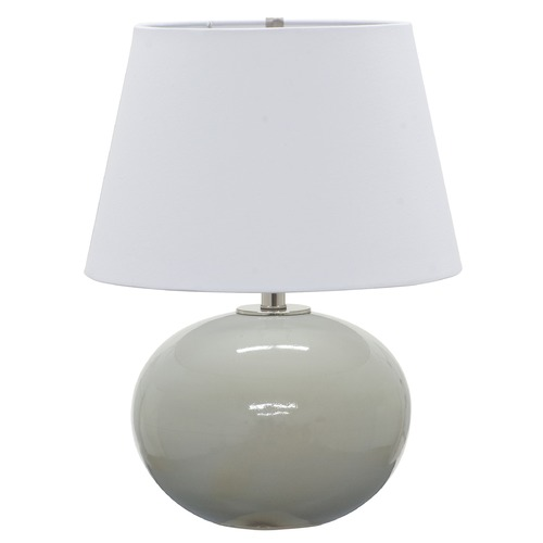 House of Troy Lighting House Of Troy Scatchard Gray Gloss Table Lamp with Empire Shade GS700-GG
