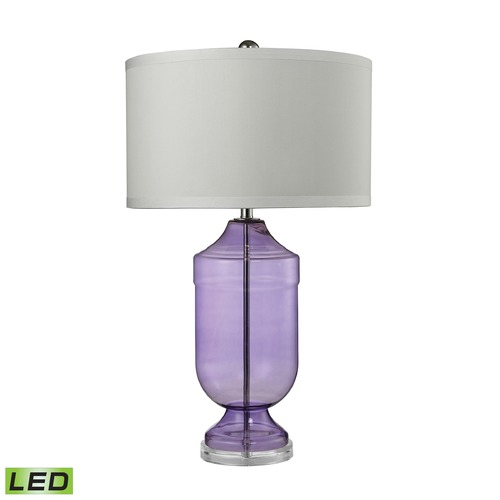 Dimond Lighting Dimond Lighting Translucent Purple LED Table Lamp with Drum Shade D2565-LED