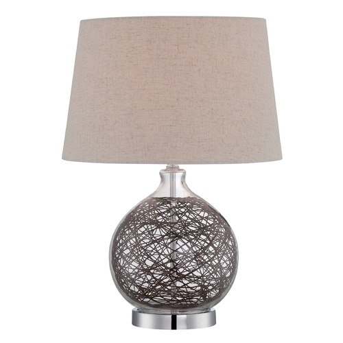 Lite Source Lighting Lite Source Claral Chrome Table Lamp with Empire Shade LS-22747