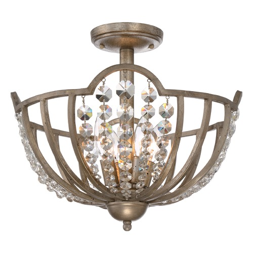 Quoizel Lighting Quoizel Majesty Vintage Gold Semi-Flushmount Light MJY1615VG