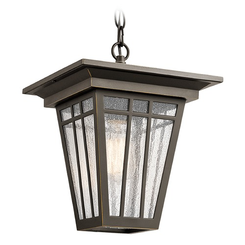 Kichler Lighting Kichler Lighting Woodhollow Lane Outdoor Hanging Light 49678OZ
