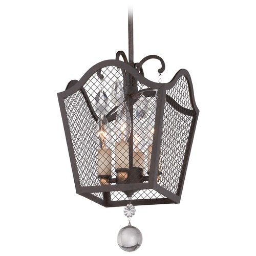 Metropolitan Lighting Metropolitan Cortona French Bronze W/ Gold Highligh Mini-Pendant Light N7104-258B