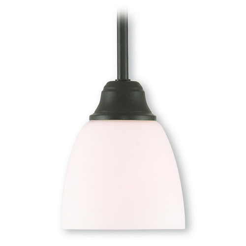 Livex Lighting Livex Lighting Somerville Bronze Mini-Pendant Light with Bowl / Dome Shade 53850-07