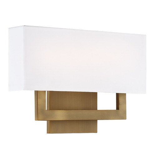 WAC Lighting Wac Lighting Manhattan Aged Brass LED Sconce WS-13115-AB