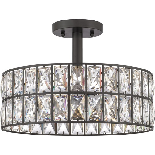 Quoizel Lighting Quoizel Lighting Coffman Western Bronze Semi-Flushmount Light QF4046WT