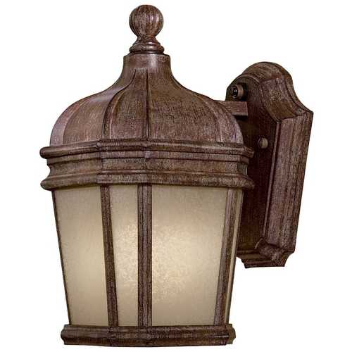 Minka Lavery Outdoor Wall Light with White Glass in Vintage Rust Finish 8690-1-61-PL