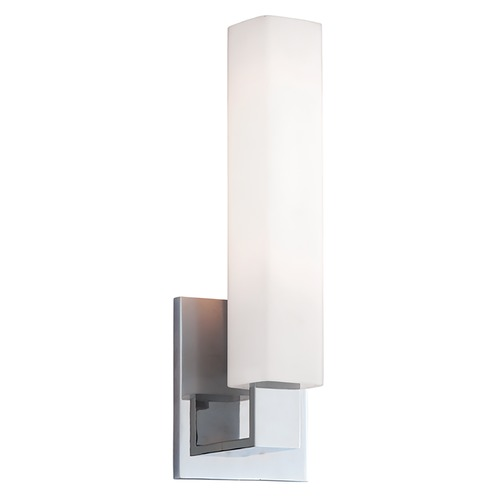 Hudson Valley Lighting Modern Bathroom Light with White Glass in Polished Chrome Finish 550-PC