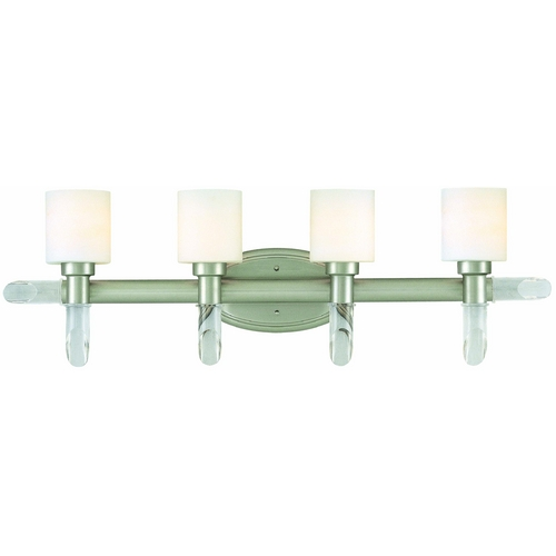 Lite Source Lighting Lite Source Lighting Glamis Satin Steel Bathroom Light LS-16864SS/FRO