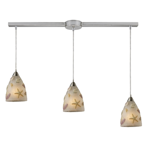 Elk Lighting Modern Multi-Light Pendant Light with White Glass and 3-Lights 20000/3L