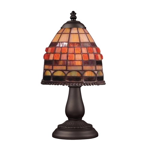 Elk Lighting Accent Lamp with Tiffany Glass in Bronze Finish 080-TB-10