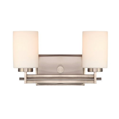 Quoizel Lighting Two-Light Antique Nickel Vanity Light TY8602AN