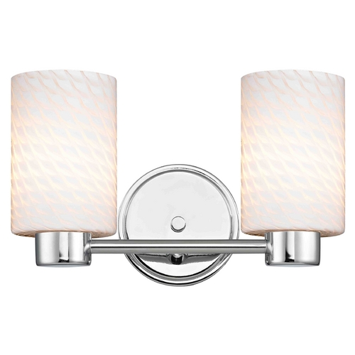 Design Classics Lighting Aon Fuse Chrome Bathroom Light 1802-26 GL1020C