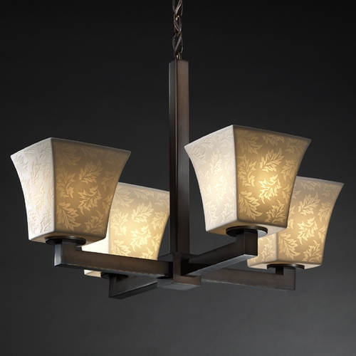 Justice Design Group Justice Design Group Limoges Collection Chandelier POR-8829-40-LEAF-DBRZ
