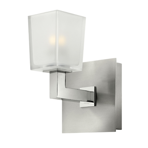 Hinkley Lighting Modern Sconce Wall Light with White Glass in Brushed Nickel Finish 51560BN