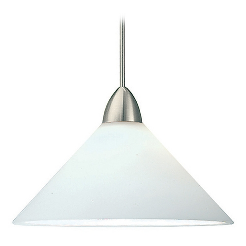 WAC Lighting Wac Lighting Contemporary Collection Brushed Nickel LED Mini-Pendant with Conical S MP-LED512-WT/BN