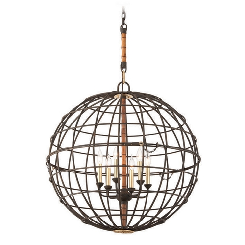 Troy Lighting Troy Lighting Latitude Liberty Rust Pendant Light with Globe Shade F3936