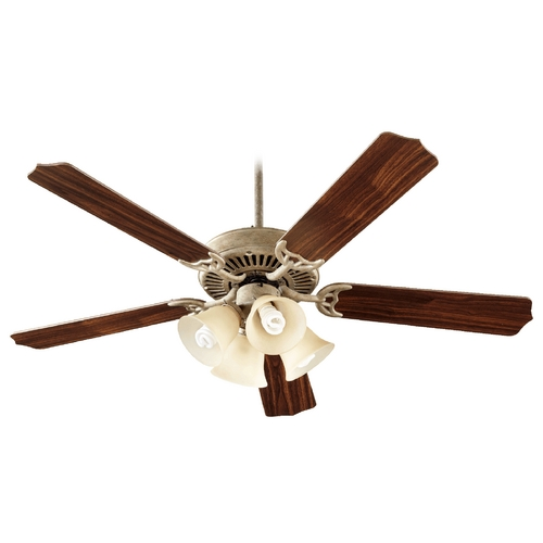 Quorum Lighting Quorum Lighting Capri V Mystic Silver Ceiling Fan with Light 77525-8358