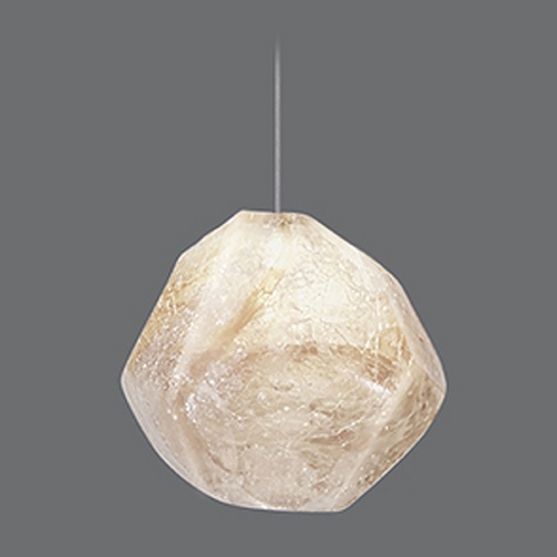 Fine Art Lamps Fine Art Lamps Natural Inspirations Gold-Toned Silver Leaf Mini-Pendant Light 852240-20ST
