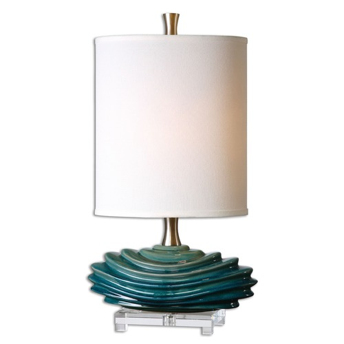 Uttermost Lighting Uttermost Talucah Teal Blue Table Lamp 29976-1