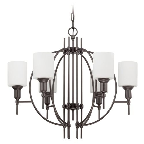 Jeremiah Lighting Jeremiah Lighting Meridian Espresso Chandelier 37226-ESP