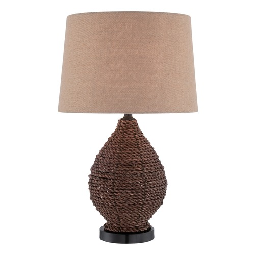 Lite Source Lighting Lite Source Pouria Dark Brown Table Lamp with Drum Shade LS-22750