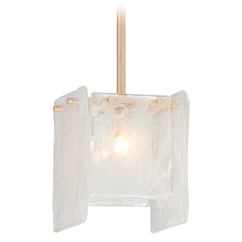 Metropolitan Lighting Metropolitan Arctic Frost Antique French Gold Mini-Pendant Light N7281-595